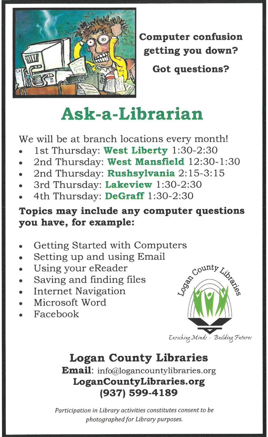 Ask A Librarian Logan County Libraries